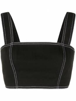 Balmain square neck cropped top TF0002D045