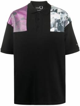 Raf Simons X Fred Perry рубашка поло с фотопринтом SM8120