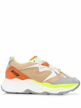 MSGM кроссовки с контрастными вставками 2841MDS2086708