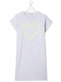 Alberta Ferretti Kids платье-футболка с принтом 024530