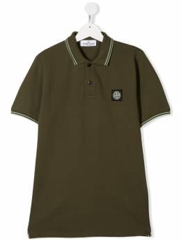 Stone Island Junior рубашка поло с нашивкой-логотипом MO721621348