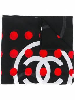 Chanel Pre-Owned шарф в горошек с логотипом DPTC0317CHL