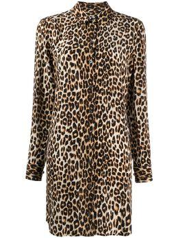 Equipment платье-рубашка с леопардовым принтом 190Q588DR01198