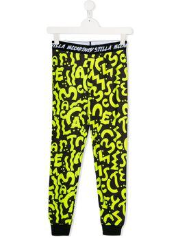 Stella McCartney Kids спортивные брюки с принтом 566480SNJF5