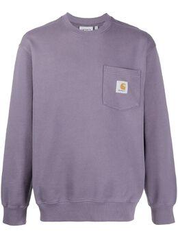 Carhartt Wip свитер с накладным карманом I0276810308X00DECENTPURPL