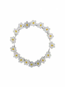 Palm Angels ALL DAISIES NECKLACE SILVER YELLOW PWOB011S20MET0017218