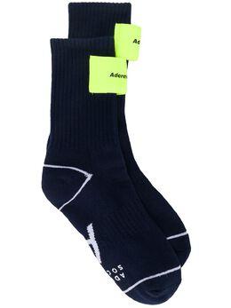 Ader Error logo patch cotton socks SO10