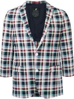 Loveless пиджак в клетку с укороченными рукавами 61F4851327