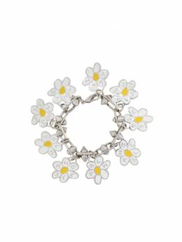 Palm Angels ALL DAISIES BRACELET SILVER YELLOW PWOA003S20MET0017218