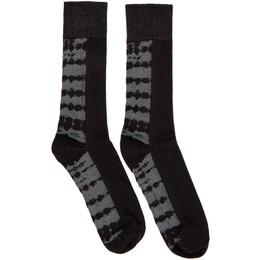 Issey Miyake Men Black Dyeing Socks ME06AI003
