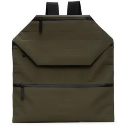 Issey Miyake Men Khaki Galette Backpack ME06AG506