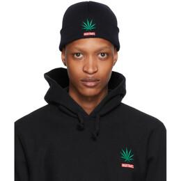 Wacko Maria Black High Times Edition Weed Beanie HIGHTIMES-WM-CP01