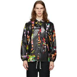 Comme Des Garcons Homme Plus Black and Multicolor Faux-Fur Print Jacket PE-J077-051