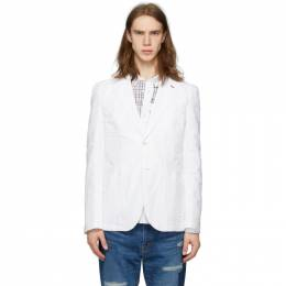 Junya Watanabe White Chambray Blazer WE-J033-051