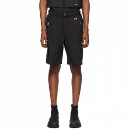 C2H4 Black Side Pockets Track Shorts R001-X020