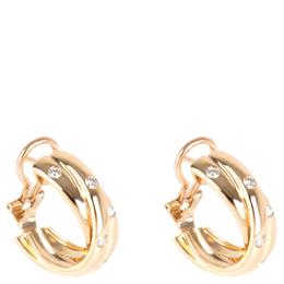Cartier Constellation 18K Yellow Gold Diamond Earrings 282423