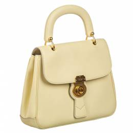 Burberry Beige Leather Large DK88 Bag