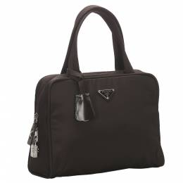 Prada Brown/Dark Brown Nylon Shoulder Bag