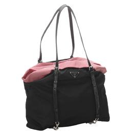 Prada Black Tessuto Nylon Tote Bag