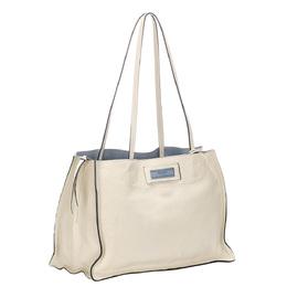 Prada White Leather Etiquette Tote Bag