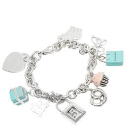 Tiffany & Co. Charm Sterling Silver Bracelet 282492