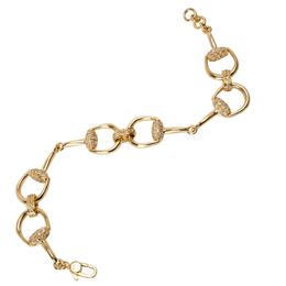 Gucci Horsebit 1.04 CTW Diamond 18K Yellow Gold Bracelet