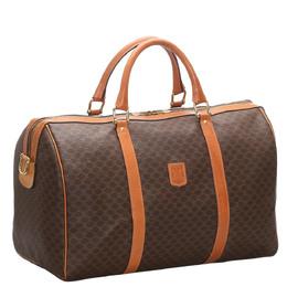 Celine Brown Macadam Canvas Travel Bag 280031