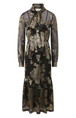Платье-миди Saint Laurent 614419/Y7A10