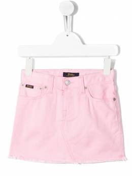 Ralph Lauren Kids юбка с необработанными краями 311783744
