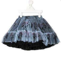 Caroline Bosmans пышная юбка с цветочным принтом 340