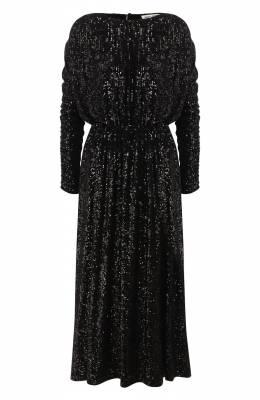Платье с пайетками Saint Laurent 615489/YB0K2