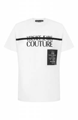 Хлопковая футболка Versace Jeans Couture B3GVB7TF-VUM601/30319