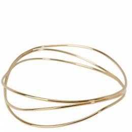 Tiffany & Co. Elsa Peretti 3 Row Wave 18K Yellow Gold Bracelet