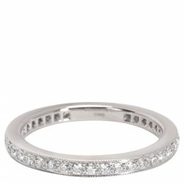Tiffany & Co. Legacy 0.57 CTW Diamond Wedding Platinum Band Ring Size 53 284623