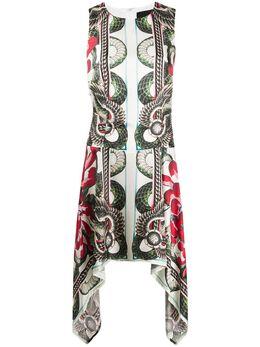 John Richmond платье без рукавов со змеиным принтом RWP20206VESM
