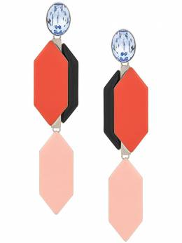 Emilio Pucci серьги-подвески с декоративными камнями 0EAD600E900