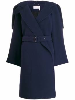 Chloe wrap-front belted coat CHC19AMA06072