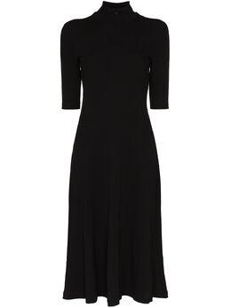 Rosetta Getty платье миди Getty с высоким воротником 11204P7260