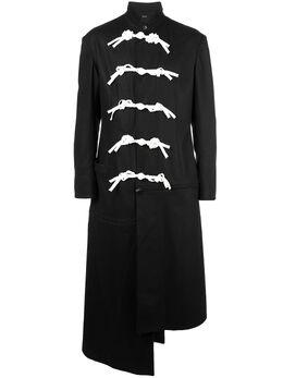 Yohji Yamamoto пальто асимметричного кроя HCJ37104
