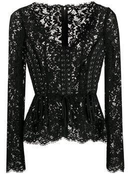 Dolce&Gabbana блузка-корсет из цветочного кружева F71V5TFLM9V