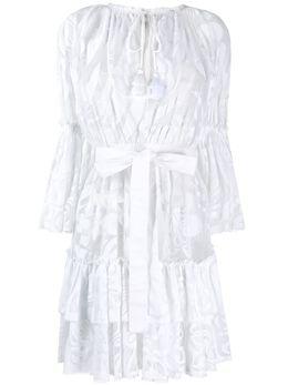 Emilio Pucci короткое сетчатое платье с цветочным узором 0EWG400E699