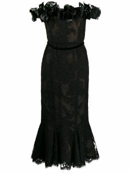 Marchesa платье с цветочной аппликацией M27901A