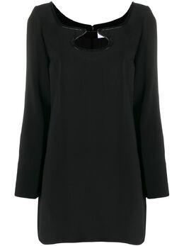 Courreges короткое платье с вырезом 319R04457