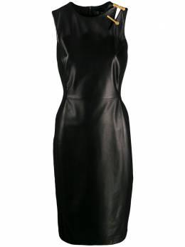 Versace платье без рукавов с декоративной булавкой A83351A227281