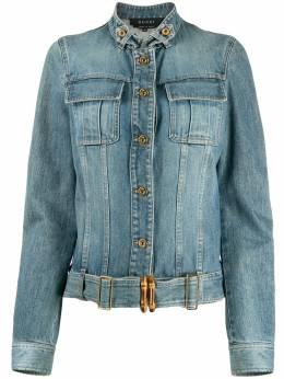 Gucci Pre-Owned укороченная джинсовая куртка DPRE0819GUCJAC