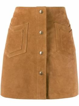 Saint Laurent декорированная юбка А-силуэта 602763YC2AY