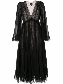 Giambattista Valli расклешенное платье с длинными рукавами 19FWPVCI518G30SGE