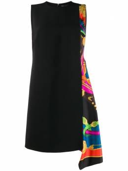 Versace платье-трапеция со вставкой и принтом A85787A224249