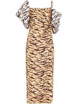 Rejina Pyo платье Amelia с открытыми плечами и принтом F270