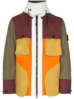 Stone Island куртка на молнии со вставками MO711542155